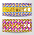 Premium Gift Voucher Graphic Template vector image vector image