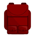 red backpack icon cartoon style vector image vector image