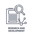 research and development line icon concept vector image vector image