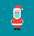 santa claus in protective face mask vector image vector image