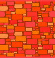 seamless background of a cartoon brick wall vector image vector image