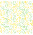 seamless pattern pears fruits summer ornament vector image vector image