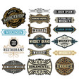 set of 16 baadges and banners vector image