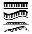 set of piano keyboards stock vector image