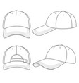set with a baseball cap vector image
