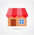 shop store trendy symbol trendy colored vector image vector image