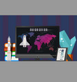 space result countdown to rocket launch vector image