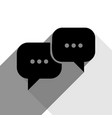 speech bubbles sign black icon with two vector image vector image