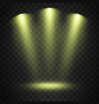 spotlights on transparent background vector image