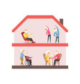 stay home concept nursing house elderly vector image vector image