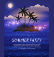 summer night party flyer vector image vector image