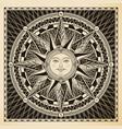 sun compass vector image vector image