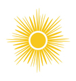 Sun icon Light yellow white background isolated vector image vector image