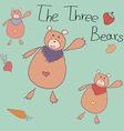 The Three Bears vector image