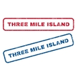 Three Mile Island Rubber Stamps vector image vector image