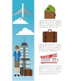 Travel and infographic design vector image vector image