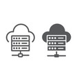 web hosting line and glyph icon data vector image vector image
