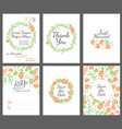 wedding design invitations vector image