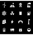 white energetics icon set vector image vector image