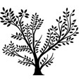 whole black tree vector image vector image