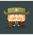 Wild west Cartoon sheriff with mustaches and hat vector image vector image