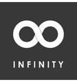 white infinity icons set vector image