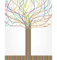 Abstract colorful tree from lines vector image
