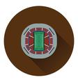American football stadium birds-eye view icon vector image vector image