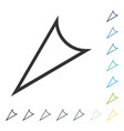 arrowhead left down icon