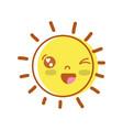 beauty kawaii and happy sun design vector image vector image