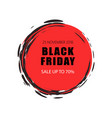 black friday sale and offers 70 percent lower vector image vector image