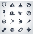 black toys icon set vector image vector image