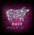 boar pig - silhouette symbol 2019 year vector image