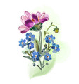bouquet of flowers isolated on white backgrond vector image vector image