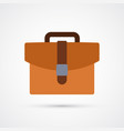 briefcase trendy symbol trendy colored vector image