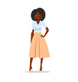 Cartoon African american woman with afro vector image vector image