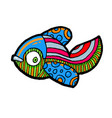 cartoon comics sea or river fish vector image