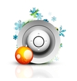 Christmas internet button vector image vector image