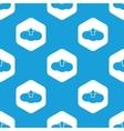Cloud upload hexagon pattern vector image vector image