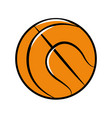 color ball to play basketball icon vector image vector image