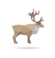 Deer abstract isolated on a white backgrounds vector image vector image