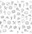 Dessert pattern black icons vector image vector image