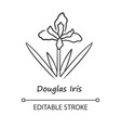 douglas iris plant linear icon california vector image vector image