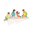 family at home mother and father with children vector image vector image
