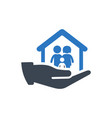 family security icon vector image vector image