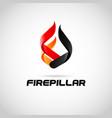 fire pillar logo symbol icon vector image vector image