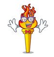 geek torch character cartoon style vector image vector image