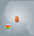 ghana information map vector image