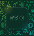 gmo colorful square outline frame or vector image vector image