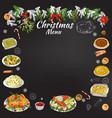hand drawing chalk restaurant festive menu vector image vector image